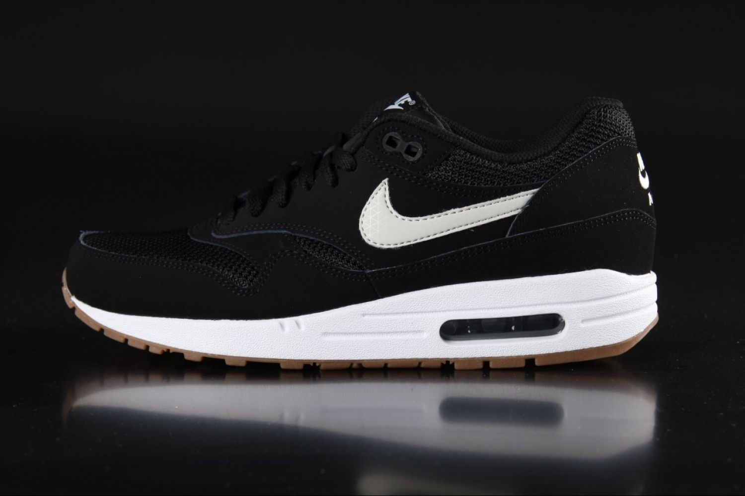 new style e6e99 c67bd Nike Air Max 1 Essential Black Gum