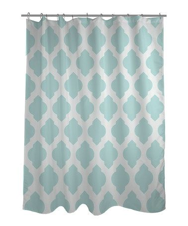 Take a look at this Aqua Moroccan Shower Curtain by OneBellaCas ...