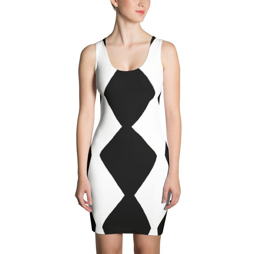 Diamond spripe black and white dress dresses pinterest diamond
