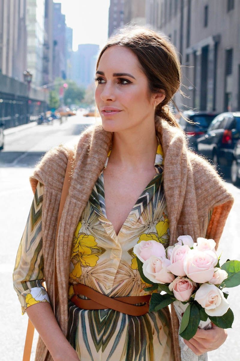 Louise Roe - New York Fashion Week Street Style - How To Wear Florals In The Winter - Front Roe fashion blog 2