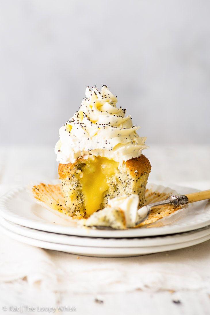 ... lemon poppy seed cupcakes ... #lemonfrosting