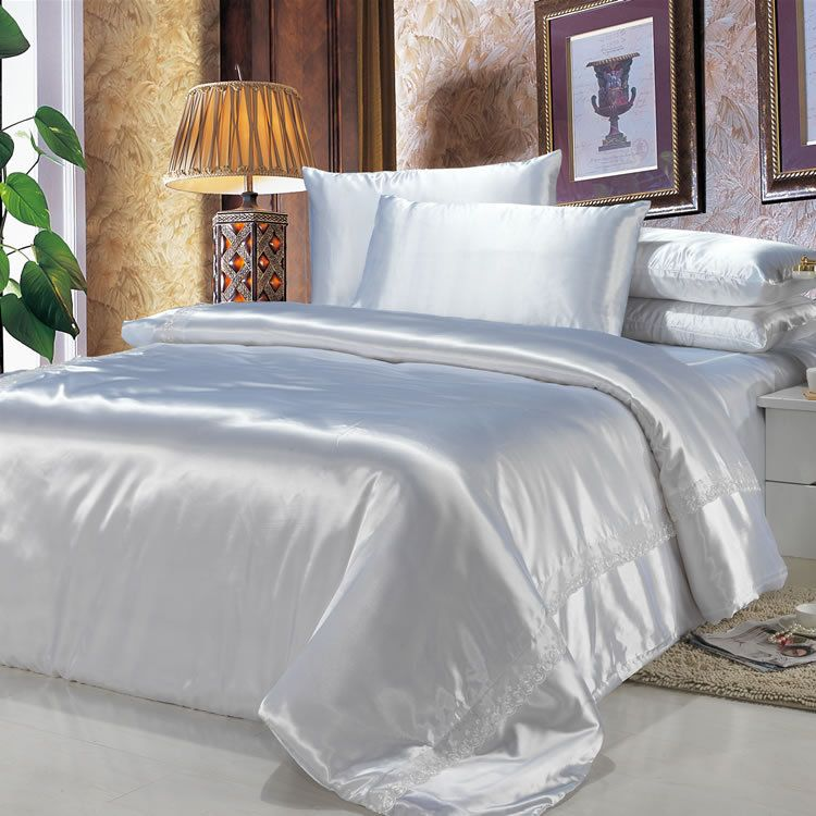 satin sheets noble silk bedding sets king queen size. Black Bedroom Furniture Sets. Home Design Ideas