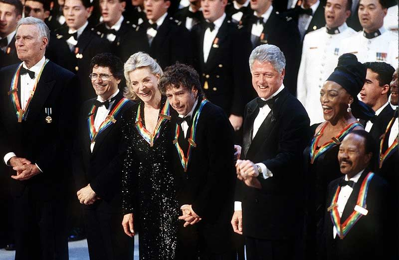 Image result for bob dylan kennedy center honors 1997