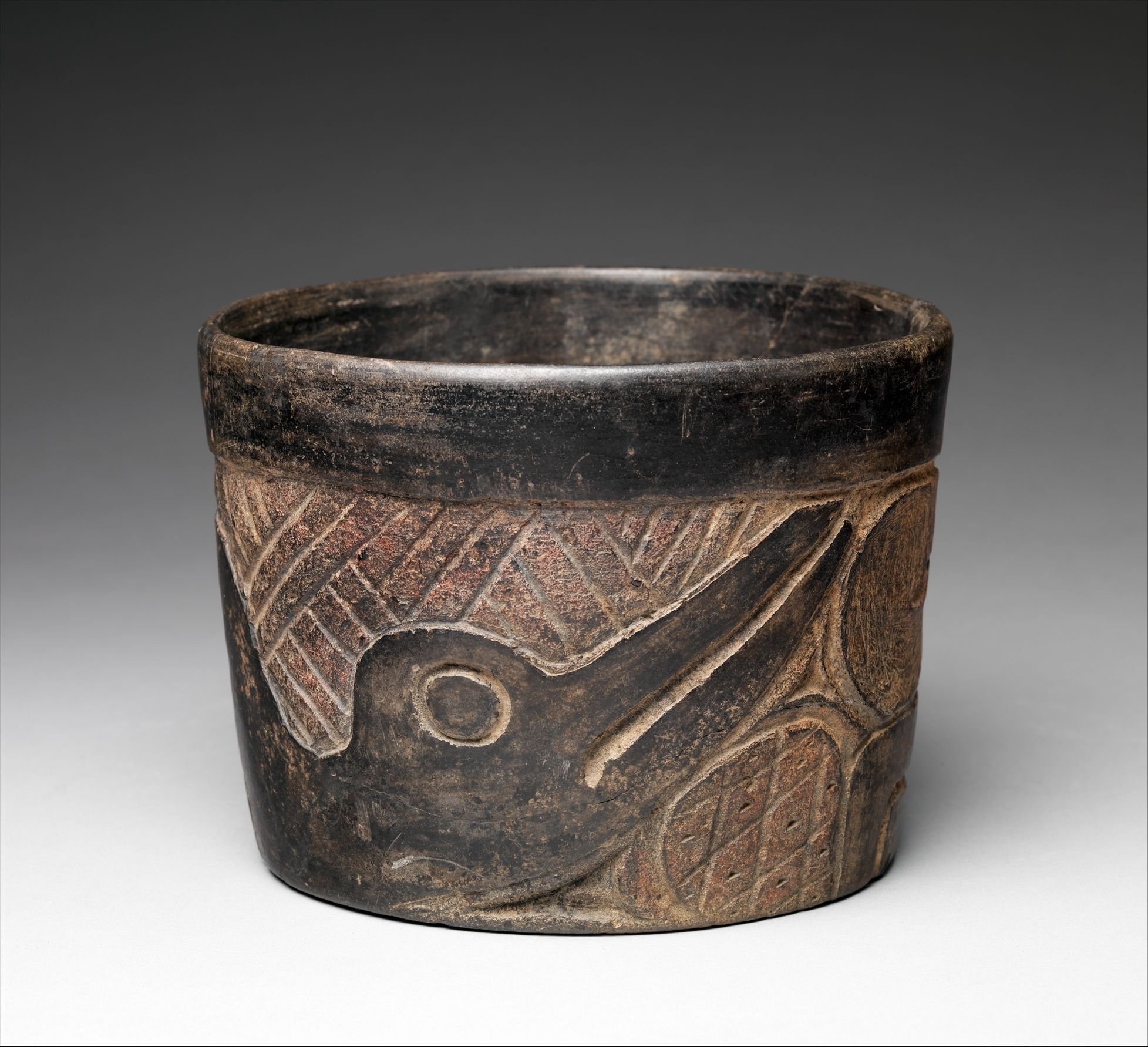 Relief-Carved Bowl,12th–9th century B.C. - Mexico, Mesoamerica Culture: Olmec, Ceramic