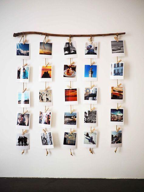 idees-accrocher-photos-polaroid Bricolage maison facile Pinterest - Bricolage A La Maison