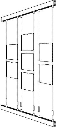 Best wire option for picture rail hanging