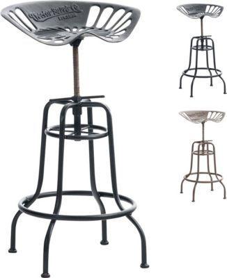 Tresenhocker Höhenverstellbar barhocker bill aus gusseisen metall barstuhl tresenhocker