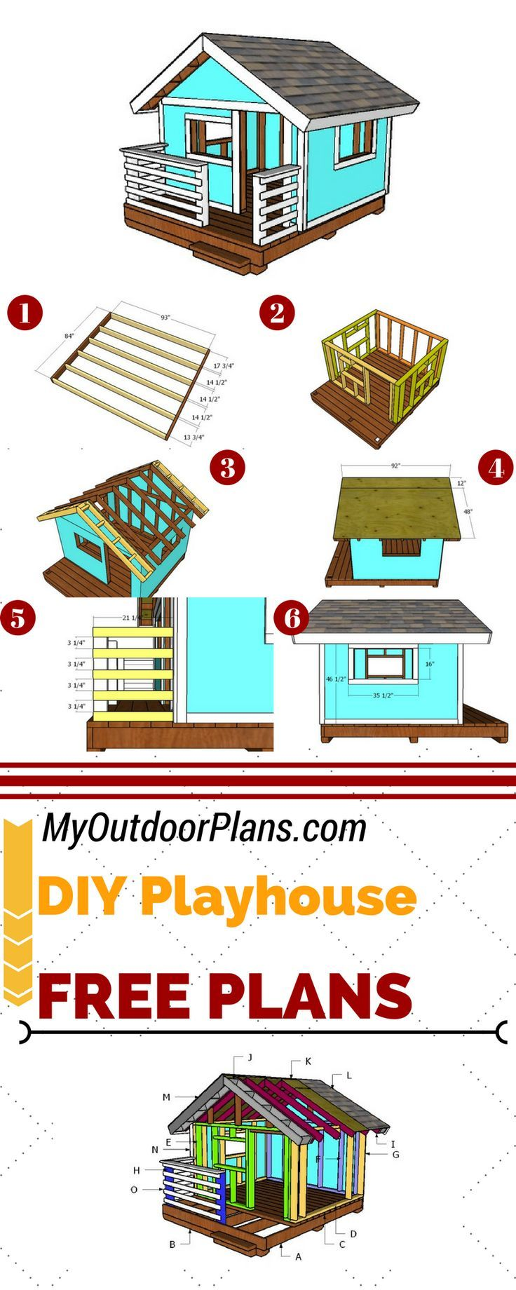 Photo of Free playhouse plans so you can build a retreat shelter for your kids. This play…