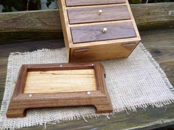 Secret Compartment in Jewelry Box Base Base is held on with