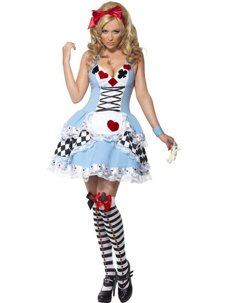 Elegant Put On This Lovely Alice In Wonderland Halloween Costume And Get Ready For  Anu2026
