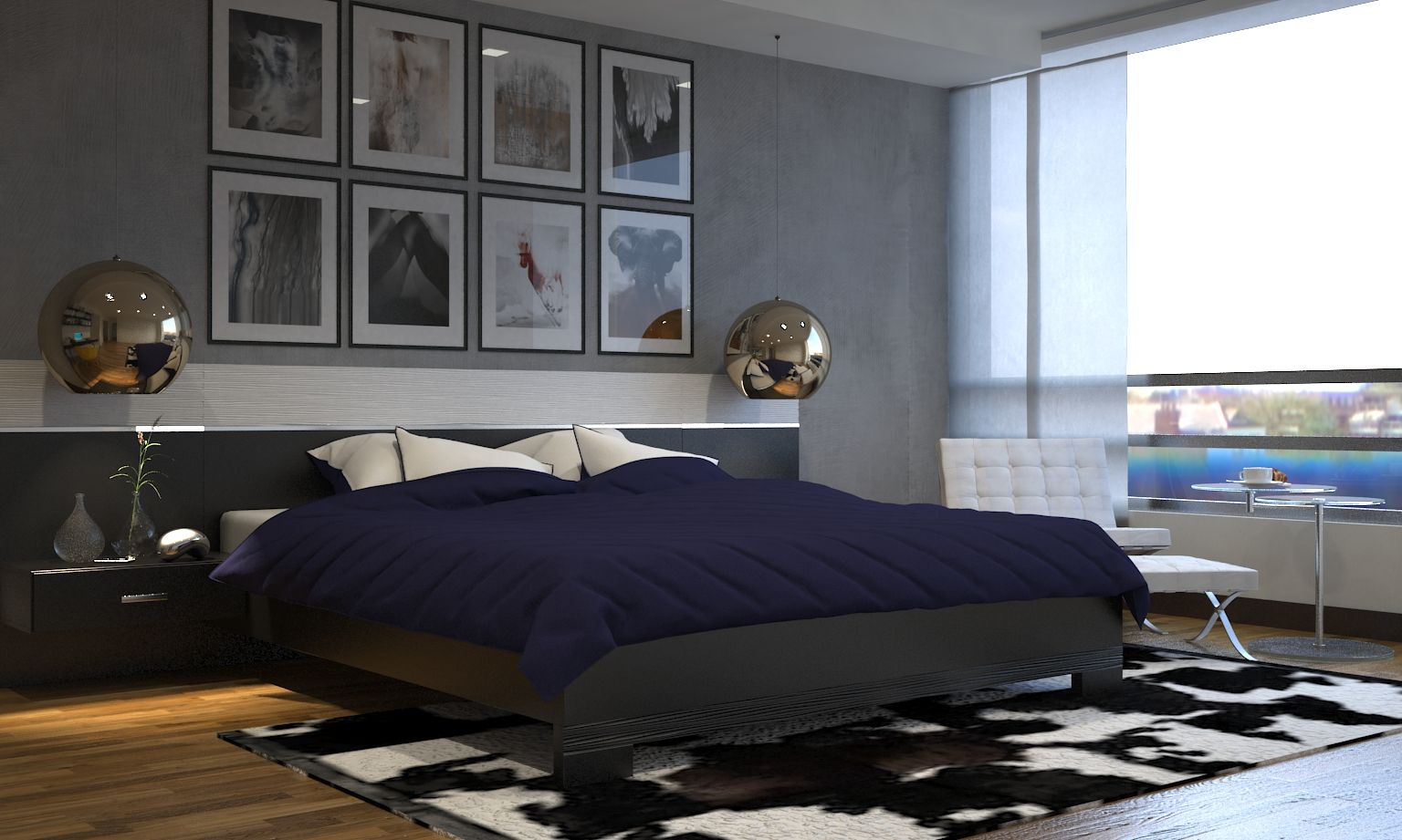 Dise o y decoraci n dormitorio principal moderno for Decoracion habitaciones principales