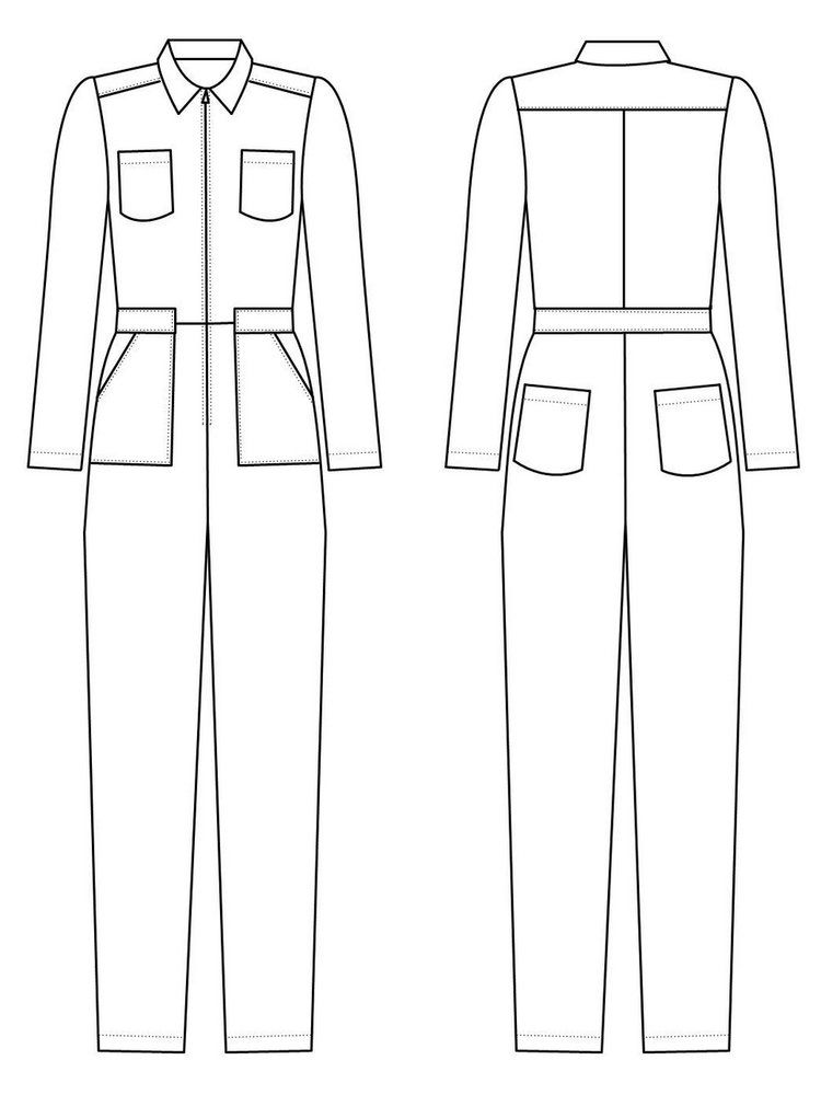 Intrepid Boiler Suit from Alice & Co Patterns | Jumpsuit Sewing ...