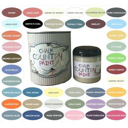 Chalk Country Paint S Color Palette Www Chalkcountry Com Chalk Paint Chalk Furniture Chalk