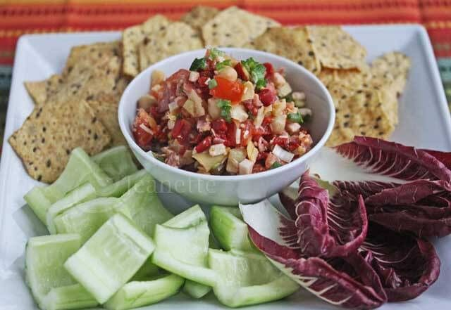 "A Healthy Italian Submarine (""Hoagie"") Dip Recipe for Super Bowl - Jeanette's Healthy Living"