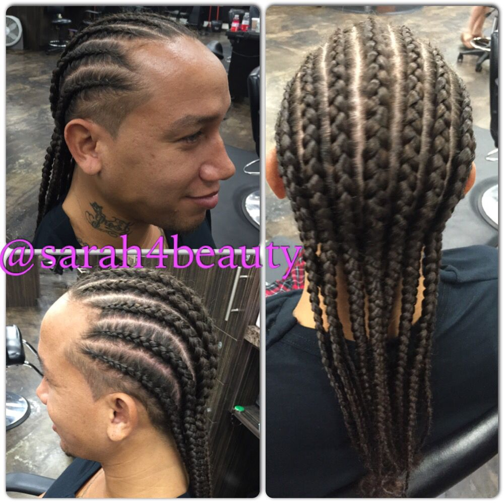 Cornrows straight back for men | Cool hairstyles, Cornrows, Hair beauty