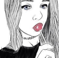 Resultado de imagen para chicas facil de dibujar Outlines