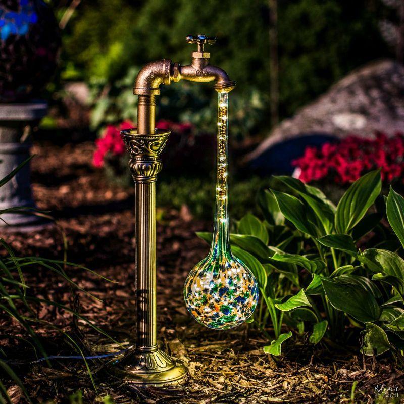 DIY Waterdrop Solar Garden Lights Diy garden projects