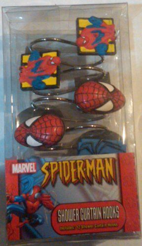 Set Of 12 The Amazing Spiderman Shower Curtain Hooks Want To Know More Click On ImageNoteIt Is Affiliate Link Amazon