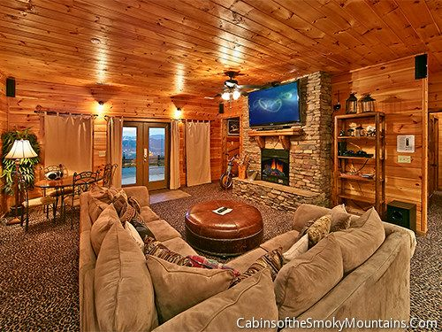 at gatlinburg cabin log game rooms chalets fireside cabins tn tennessee rental featuring include homes tables many pigeon forge pool