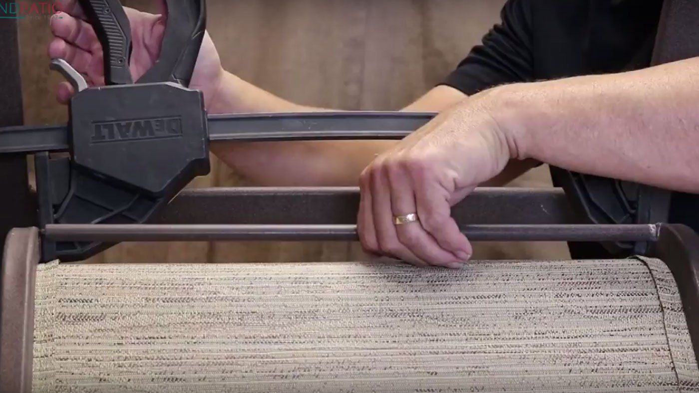 How to install patio furniture replacement slings patio