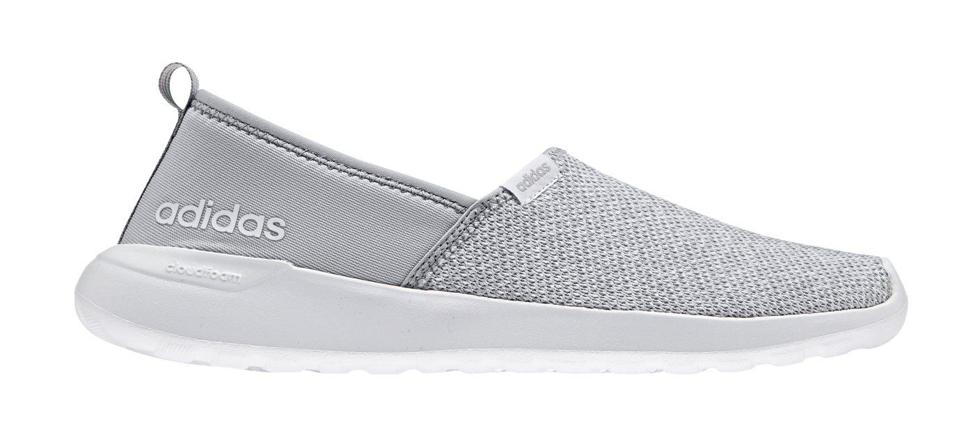 Women's adidas Cloudfoam Lite Racer Slip-On, Onix/White, ...