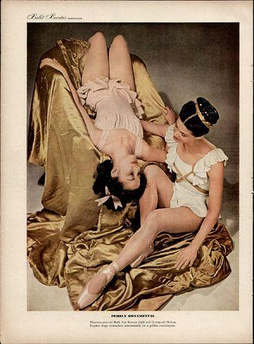 1940s Ballet Beauties Life Mag 1947 4 Art Vintage Ballet