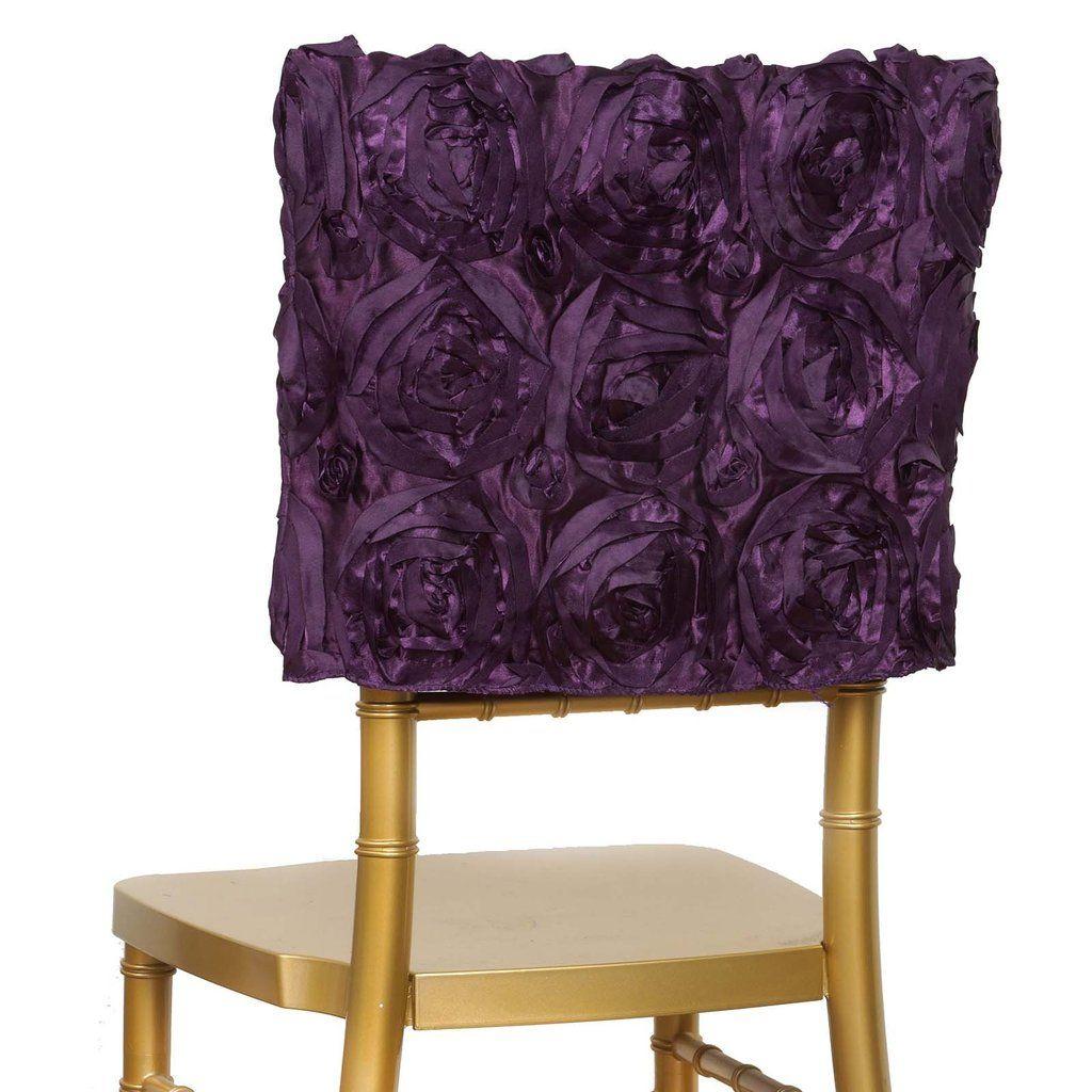 Peachy 16 Eggplant Rosette Chiavari Chair Caps Cover Wedding Forskolin Free Trial Chair Design Images Forskolin Free Trialorg