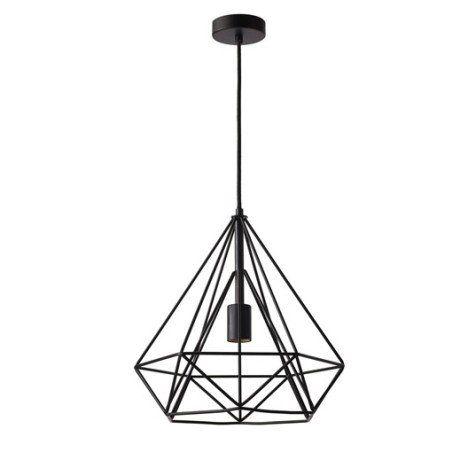 Suspension E27 Design Byron Metal Noir 1 X 60 W Inspire Luminaire Suspension Luminaire Lampe Suspension