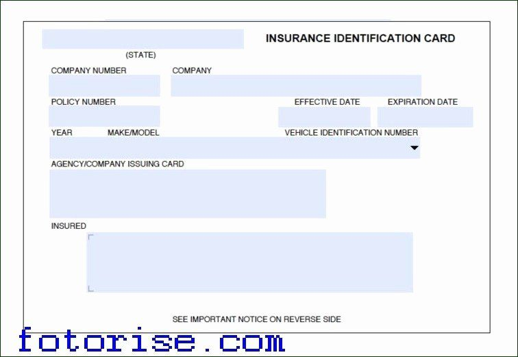 Fake Proof Of Insurance Templates Inspirational Free Fake Auto Insurance Card Template Fake Insurance Card Card Template Insurance Printable Templates
