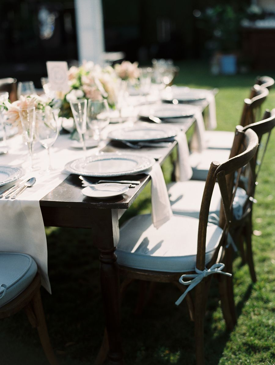 Elegant Rancho Valencia Wedding Table top, Rancho