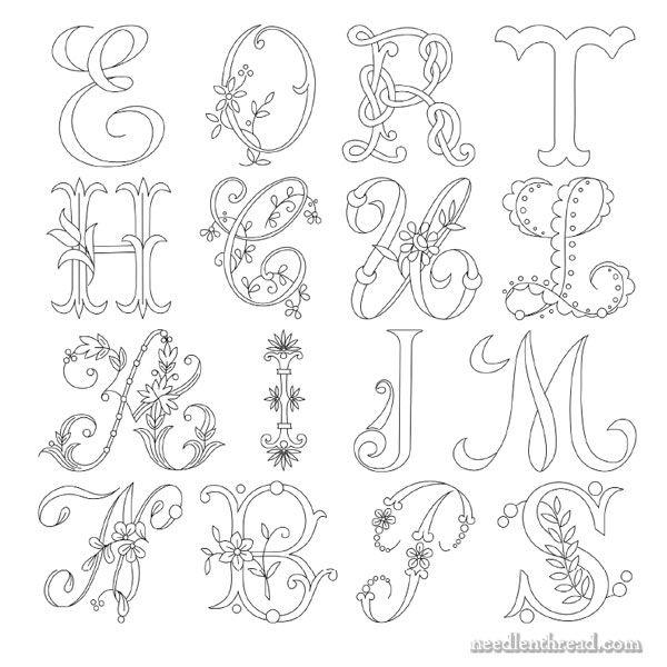 Monogram for Hand Embroidery: M | ALFABETOS y MONOGRAMAS | Pinterest ...