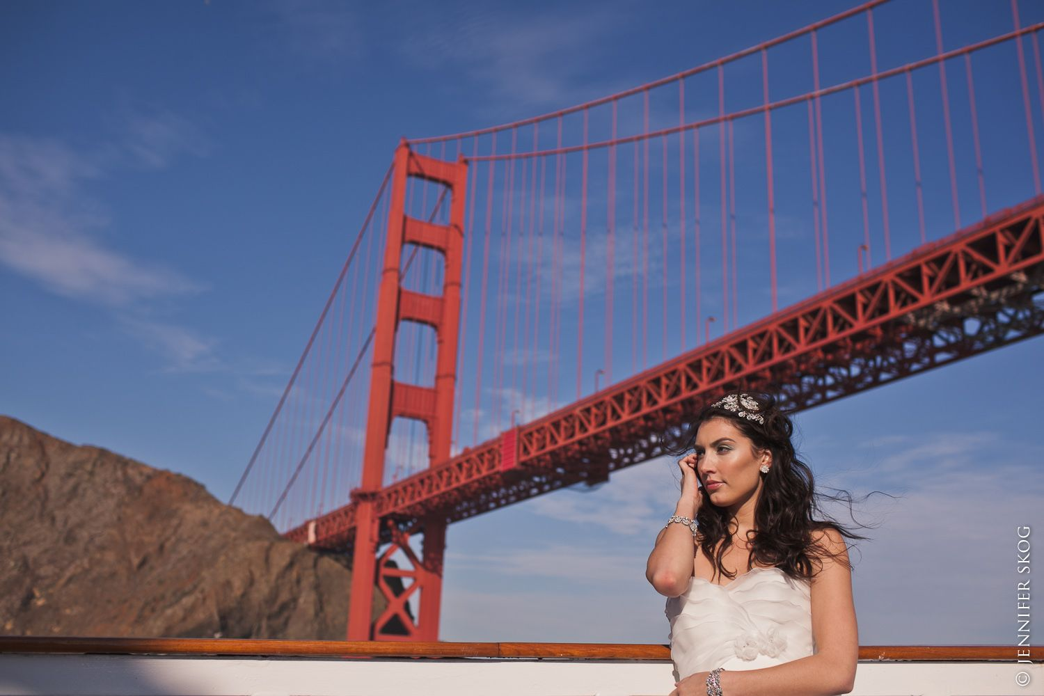 A wedding under the Golden Gate Bridge what could be