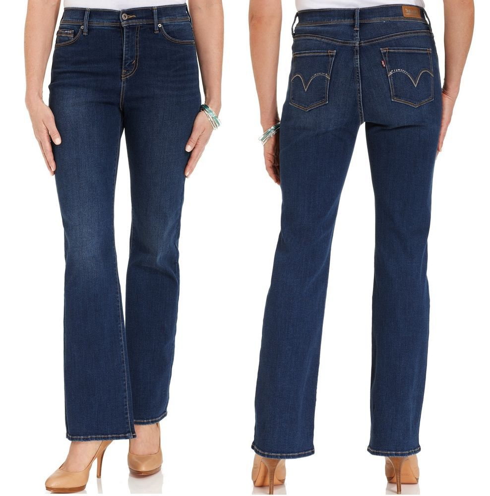 Levi's 512 Bootcut Jeans Perfectly Slimming daylight Wash women's size 10  14 NEW 29.99 http: