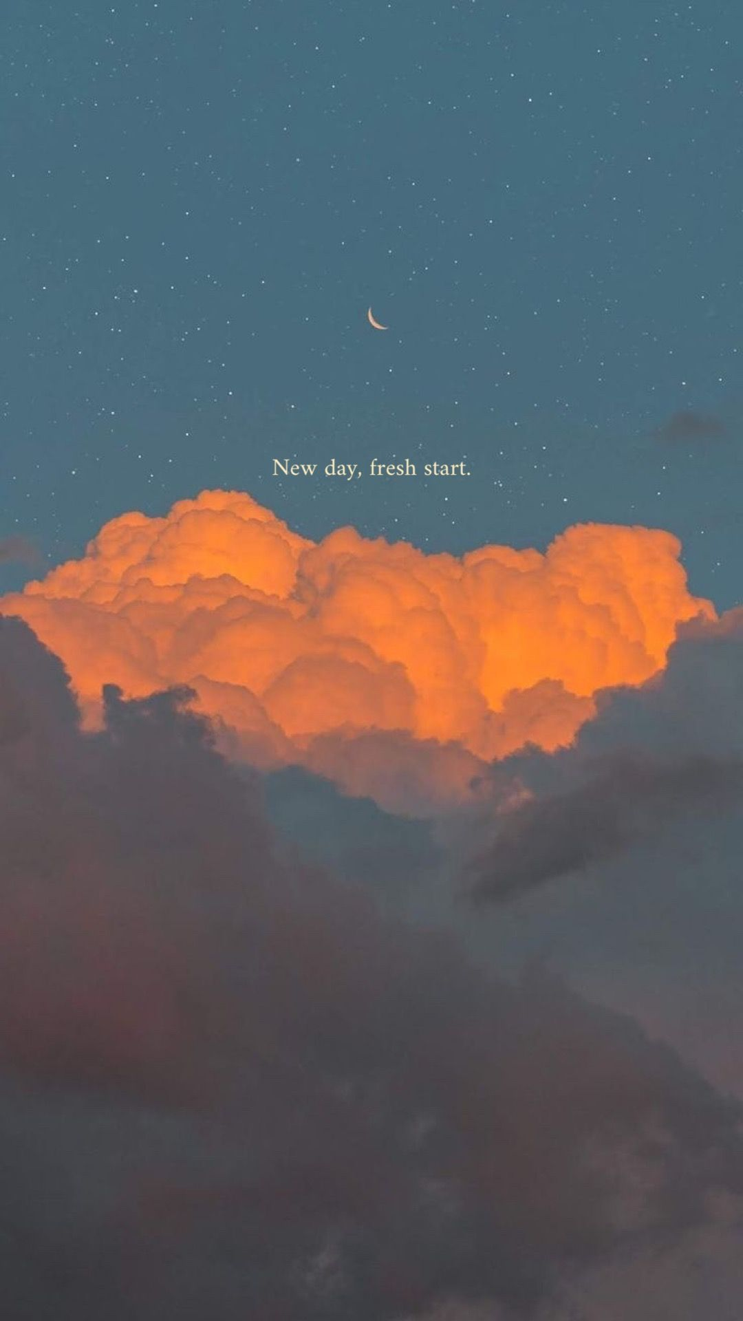 New day, fresh start — Iphone wallpaper quotes sky in 4
