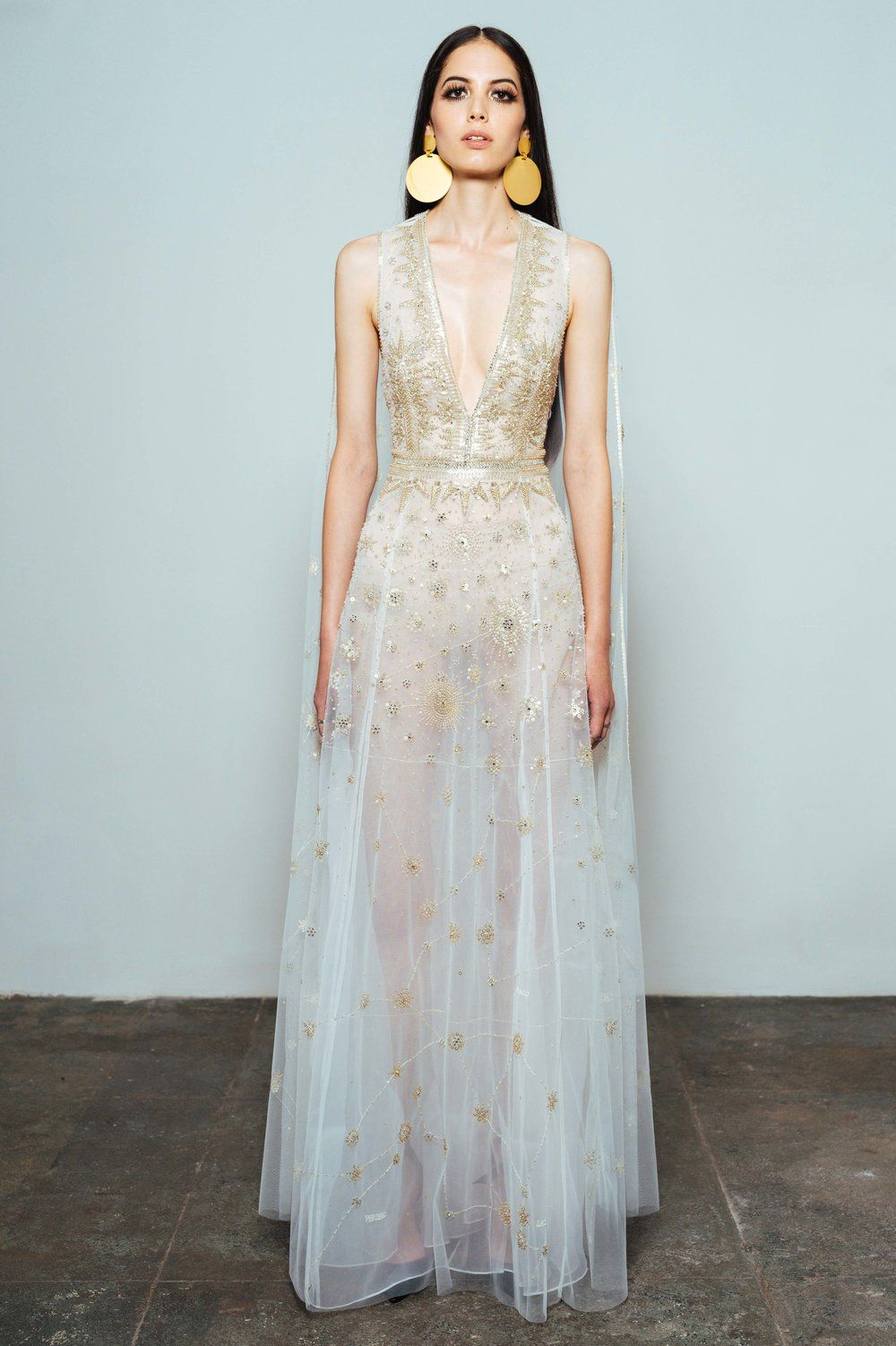 Insanely beautiful Gold Wedding Dresses  Bestickte