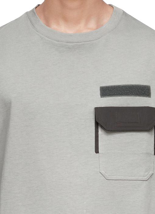 Lanvin Military Pocket T Shirt In Grey New T Shirt Design Personalized T Shirts Mens Tshirts