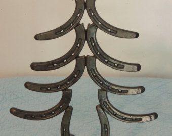 Christmas Horseshoe Art.Mini Horseshoe Art Christmas Tree Horseshoe Art