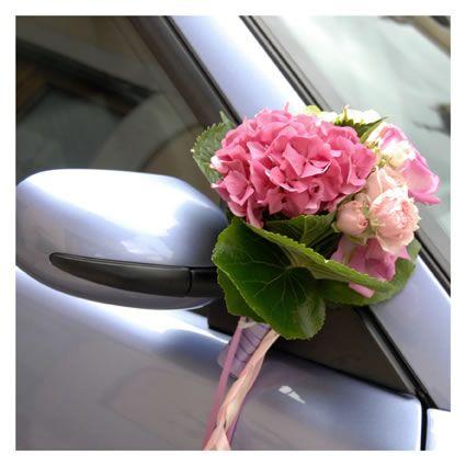 Addobbi auto sposa con ortensia rosa foto di matrimonio www bridal car decoration junglespirit Image collections