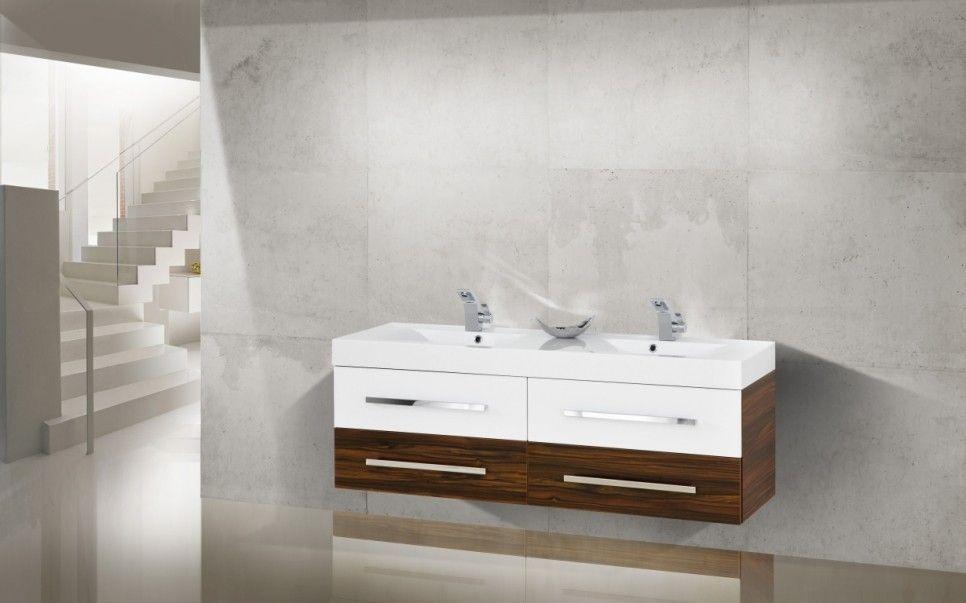 Design Badmöbel Set 160cm Doppelwaschtisch Jetzt bestellen unter - weie badmbel