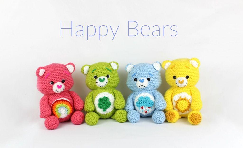 Happy Bears Amigurumi - Free Crochet Patterns - StringyDingDing
