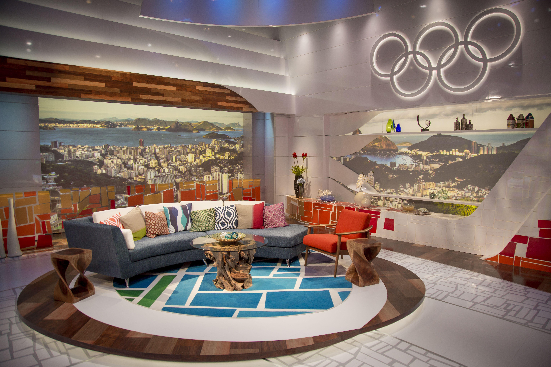 NBC Rio Olympics News Set International Broadcast Center
