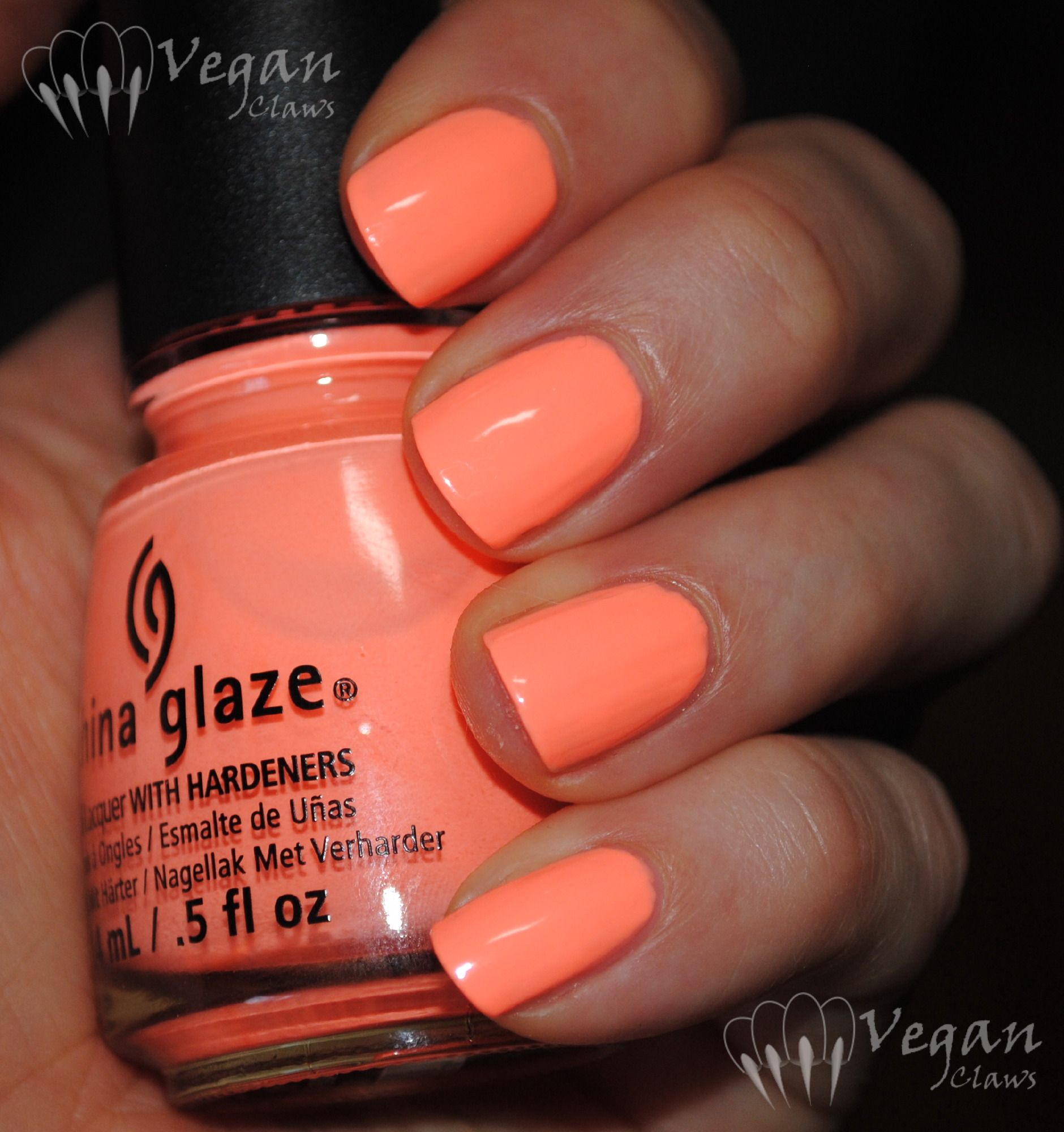 Neon Peach Coral Nail Polish Neon Coral Nails Peach Nails