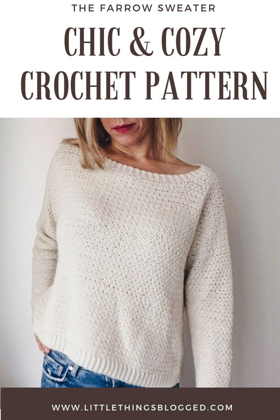FARROW SWEATER CROCHET PATTERN #sweatercrochetpattern