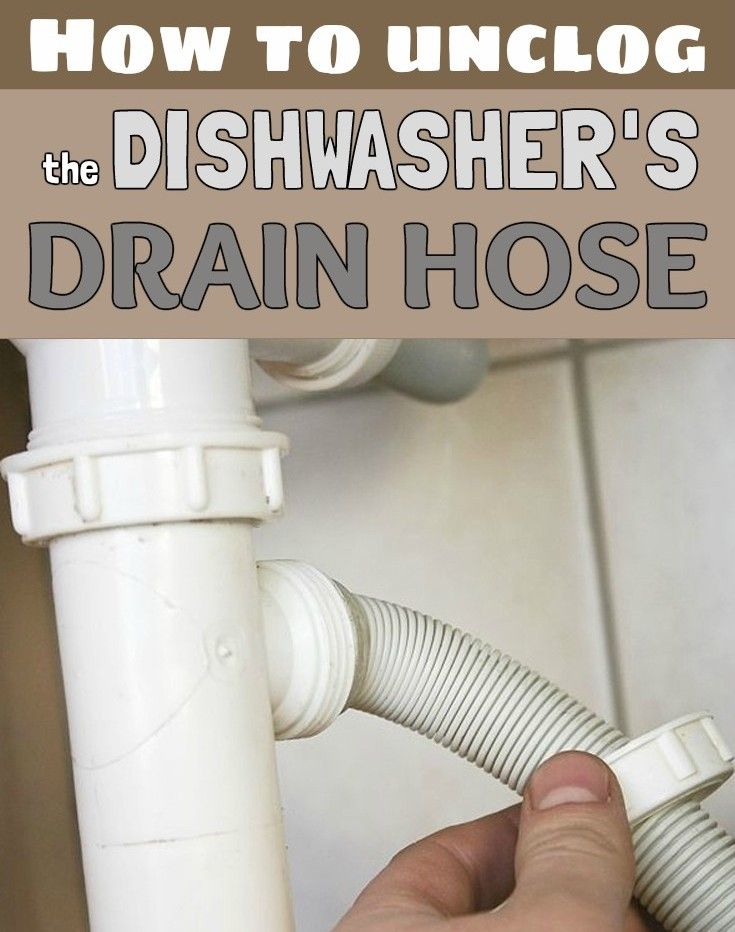 How To Unclog The Dishwasher S Drain Hose Dishwasher Drain Hose Unclog Dishwasher Clean Dishwasher