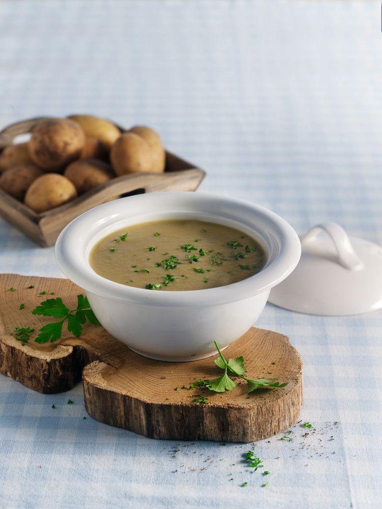 Velouté de champignons et de pommes de terre | Recettes de cuisine, Monsieur cuisine recette et ...