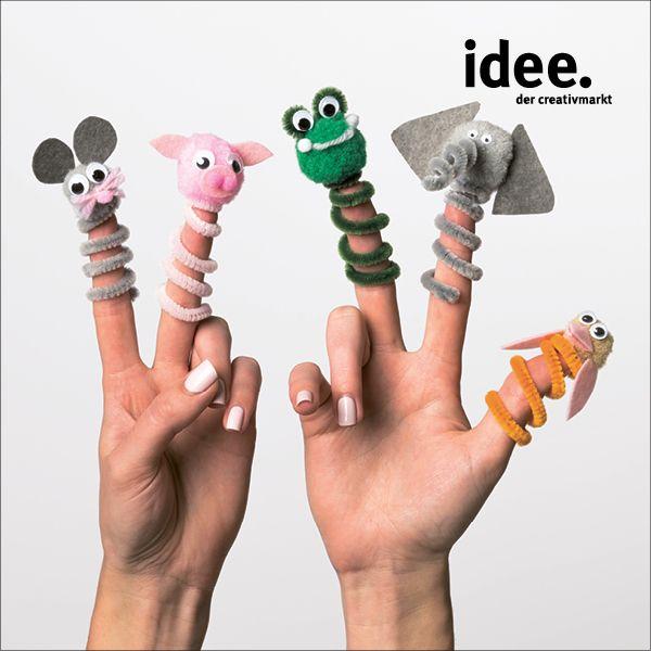 Coole Fingerpuppen nachbasteln