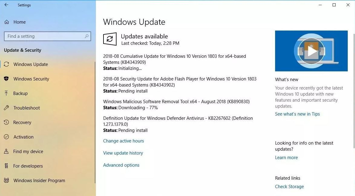 Windows 10 Cumulative Update Kb4343909 Os Build 17134 228 Changelog And Offline Download Link Windows 10 Windows 10 Things