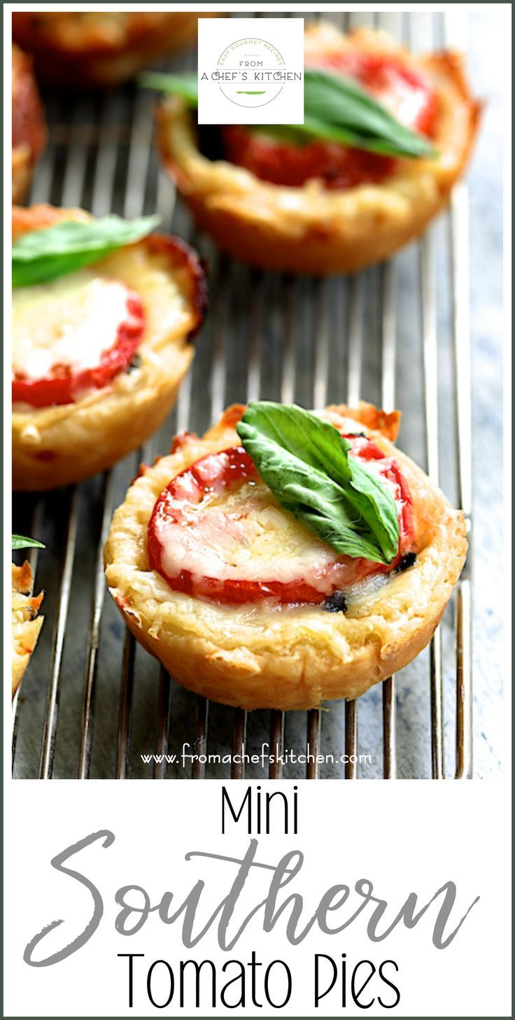Mini Southern Tomato Pies #summersouthernfood
