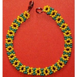 Etsy Jingjingdesign Sunflower Daisy Chain Seed Beads