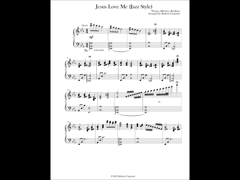 Jesus Loves Me Jazz Piano Style Video Piano Songs Sheet Music Hymn Sheet Music Piano Music